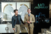 Interior designer Nate Berkus, left, and fragrance developer Carlos Huber demonstrate tips for styling one's world through Scent Decor with Unstopables, a suite of long-lasting air, home & fabric care scents, at a launch event at Maison 24 in New York, Thursday, Feb. 19, 2015.(Photo by Diane Bondareff/Invision for Unstopables/AP Images)