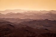 Landscape at dawn in the Judean Desert