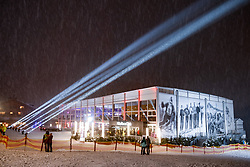 20.01.2018, Zielhaus, Kitzbühel, AUT, FIS Weltcup Ski Alpin, Kitzbuehel, Slalom, Herren, Startnummernauslosung, im Bild Kitz Race Club // Kitz Race Club during bib drawy for the men' slalom of FIS Ski Alpine World Cup at the Zielhaus in Kitzbühel, Austria on 2018/01/20. EXPA Pictures © 2018, PhotoCredit: EXPA/ Johann Groder