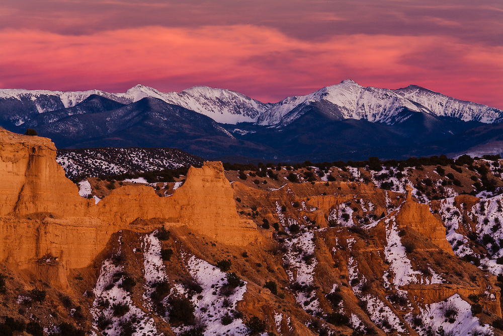 Truchas Peak and the Sangre de Cristo Mountains of northern New Mexico.