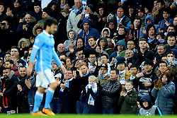Manchester City fans applaud David Silva as he leaves the field - Mandatory byline: Matt McNulty/JMP - 15/03/2016 - FOOTBALL - Etihad Stadium - Manchester, England - Manchester City v Dynamo Kyiv - Champions League - Round of 16