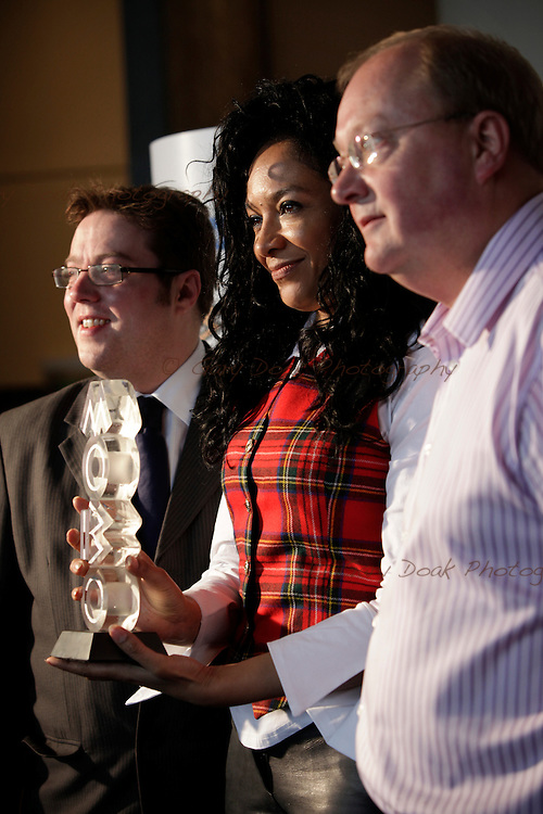 Kanya King announces MOBO awards are coming to Glasgow in 2009..