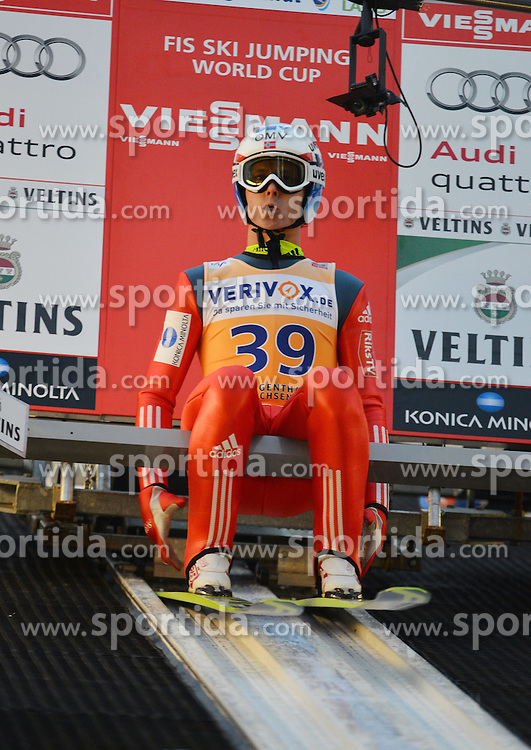 21.11.2014, Vogtland Arena, Klingenthal, GER, FIS Weltcup Ski Sprung, Klingenthal, Herren, HS 140, Qualifikation, im Bild Rune Velta (NOR) // during the mens HS 140 qualification of FIS Ski jumping World Cup at the Vogtland Arena in Klingenthal, Germany on 2014/11/21. EXPA Pictures &copy; 2014, PhotoCredit: EXPA/ Eibner-Pressefoto/ Harzer<br /> <br /> *****ATTENTION - OUT of GER*****