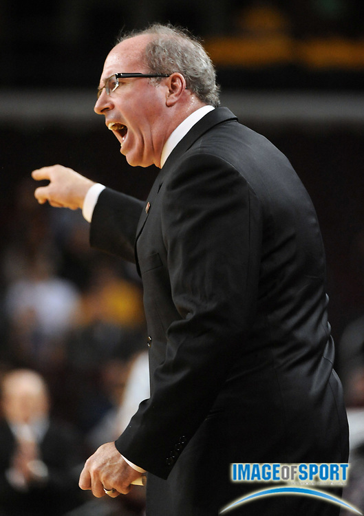 Jan 2, 2010, Los Angeles, CA, USA; Southern California Trojans coach Kevin O'Neill reacts during the game against the Arizona State Sun Devils at the Galen Center.