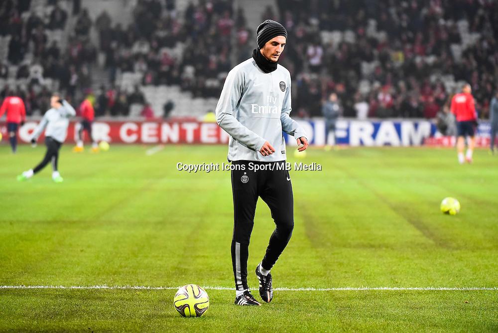 Deception Adrien RABIOT - 03.12.2014 - Lille / Paris Saint Germain - 16eme journee de Ligue 1 -<br />Photo : Fred Porcu / Icon Sport