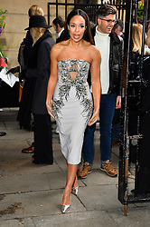 © Licensed to London News Pictures. 20/02/2016. SARAH JANE CRAWFORD arrives at the JULIEN MACDONALD Autumn/Winter 2016 show. Models, buyers, celebrities and the stylish descend upon London Fashion Week for the Autumn/Winters 2016 clothes collection shows. London, UK. Photo credit: Ray Tang/LNP