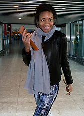 MAR 05 2014 Celebrities arrive at Heathrow Airport from the US