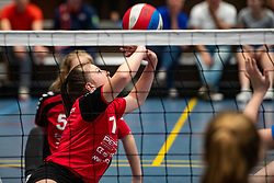 20-04-2019 NED: Dutch Championship Youth Sitting Volleyball, Veenendaal<br /> The future sitting volleyball toppers in action at the National Youth Volleyball Championship in Veenendaal / VCV