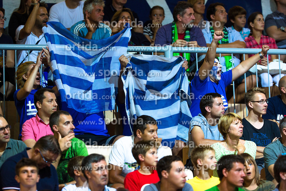 Fans during basketball match between national team of Turkey and Greece of Eurobasket 2013 on September 7, 2013 in Arena Bonifika, Koper, Slovenia. (Photo By Matic Klansek Velej / Sportida.com)