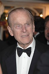 HRH The DUKE OF EDINBURGH at the Boodles Big Bash in support of The Outward Bound Trust held at The Hilton, Park Lane, London on 22nd February 2007.<br />