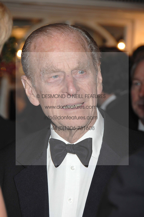 HRH The DUKE OF EDINBURGH at the Boodles Big Bash in support of The Outward Bound Trust held at The Hilton, Park Lane, London on 22nd February 2007.<br /><br />NON EXCLUSIVE - WORLD RIGHTS