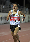 Patricio Castillo wins the 10,000m in a stadium record 29:29.12 during the Bryan Clay Invitational in Azusa, Calif., Wednesday, April 17, 2019.