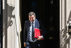 London, UK. 16 July, 2019. Mel Stride MP, Lord President of the Council and Leader of the House of Commons, leaves 10 Downing Street following a Cabinet meeting.