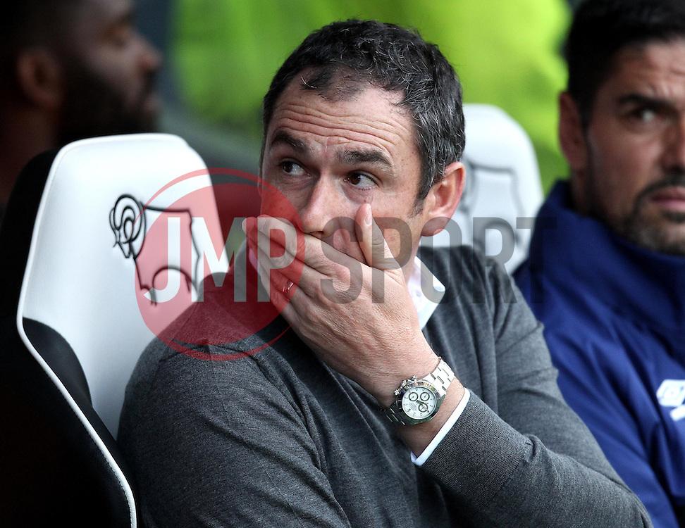 Derby County Manager Paul Clement - Mandatory by-line: Robbie Stephenson/JMP - 07966386802 - 29/07/2015 - SPORT - FOOTBALL - Derby,England - iPro Stadium - Derby County v Villarreal CF - Pre-Season Friendly