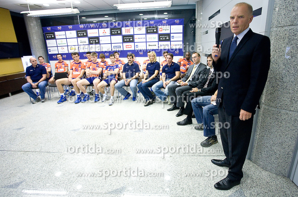 Herman Rigelnik of ACH  at press conference of volleyball club ACH Volley before new season 2009/2010,  on September 28, 2009, in Ljubljana, Slovenia.  (Photo by Vid Ponikvar / Sportida)
