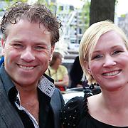 NLD/Amsterdam/20110731 - Premiere circus Hurricane met Hans Klok, Rein Kolpa en partner Wieneke Remmers
