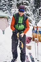 Eric Johnson at the Mount Hayden Backcountry Lodge, San Juan Mountains, Colorado.