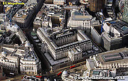 aerial photograph of the Bank of England in City of London England UK