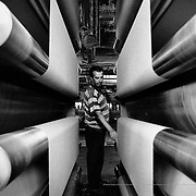 Said worked in Hilados y Tejidos Puigneró, the biggest textile factory in Spain. In 2003 the company closed down and now they have to find new jobs to be able to renew their resident permits. Spain.