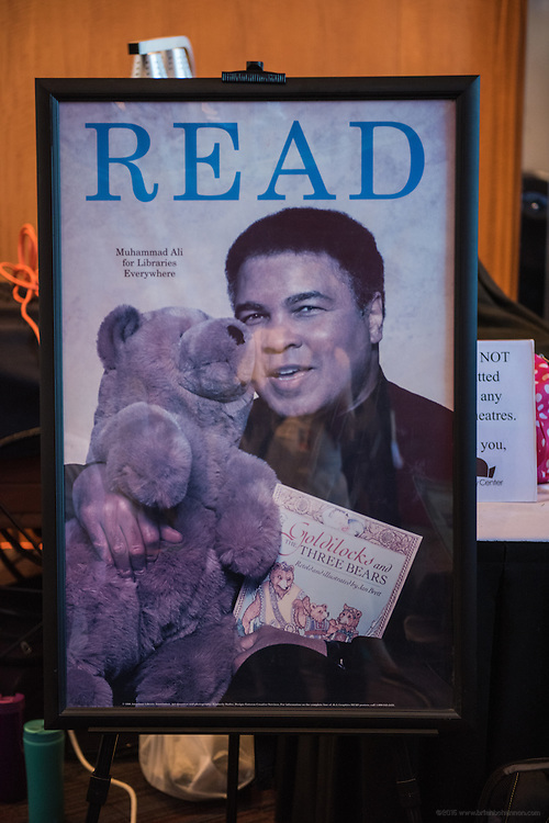 The scene at The Muhammad Ali Center, Wednesday, June 8, 2016, in Loiuisville, Ky. (Photo by Brian Bohannon)