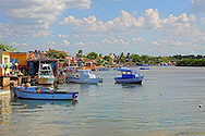 Fishing boats in Playa Baracoa, Artemisa, Cuba.