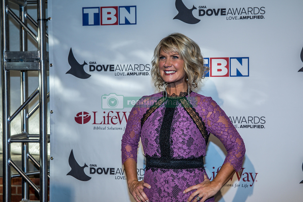 October 11, 2016 - Nashville, Tennessee, USA - Natalie Grant at the 47th Annual GMA Dove Awards  in Nashville, TN at Allen Arena on the campus of Lipscomb University.  The GMA Dove Awards is an awards show produced by the Gospel Music Association. (Credit Image: © Jason Walle via ZUMA Wire)