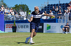 LIVERPOOL, ENGLAND - Friday, June 21, 2019: Mansour Bahrami (IRN) during Day Two of the Liverpool International Tennis Tournament 2019 at the Liverpool Cricket Club. (Pic by David Rawcliffe/Propaganda)