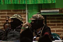Sub comandante Galeano, un tempo Marcos, riappare nel CNI, per la imminente candidatura di una donna indigena alle elezioni presidenziali 2018.