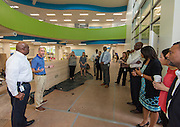 Members of the Houston ISD Bond Oversight Committee tour Condit Elementary School, July 21, 2016.