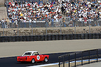 MONTEREY, CA - AUGUST 18:  Fans watch the Monterey Historic Automobile Races at the Mazda Raceway Laguna Seca on August 18, 2007 in Monterey, California.  (Photo by David Paul Morris)