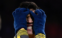 January 3, 2017 - Bournemouth, England, United Kingdom - Arsenal's ALEXIS SANCHEZ reacts during Premier League action at Vitality Stadium. Arsenal produced a comeback to win a 3-3 draw against Bournemouth. (Credit Image: © Dylan Martinez/Action Images via ZUMA Press)