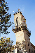 Former belfry of the town and symbol of local government power, the tower spans the street on Roman foundations. Erected in 1510, it houses an astronomic clock built in 1661, containing four wooden statues. The Four Seasons fountain by the sculptor Chastel in the 17th century is surmounted by a Roman column in its core.