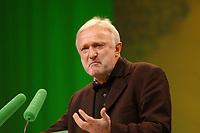 07 DEC 2002, BERLIN/GERMANY:<br /> Werner Schulz, MdB, B90/Gruene, waehrend seiner Rede, Buendnis 90 / Die Gruenen Bundesdelegiertenkonferenz, Congress Centrum Hannover<br /> IMAGE: 20021207-01-073<br /> KEYWORDS: Green Party, party congress, Bündnis 90 / Die Grünen, Parteitag, BDK, speech