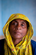 Muslin woman in her home in Nagore. South India.