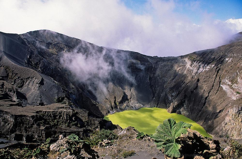 Volcano Irazu crater; Volcan Irazu National Park, Costa Rica
