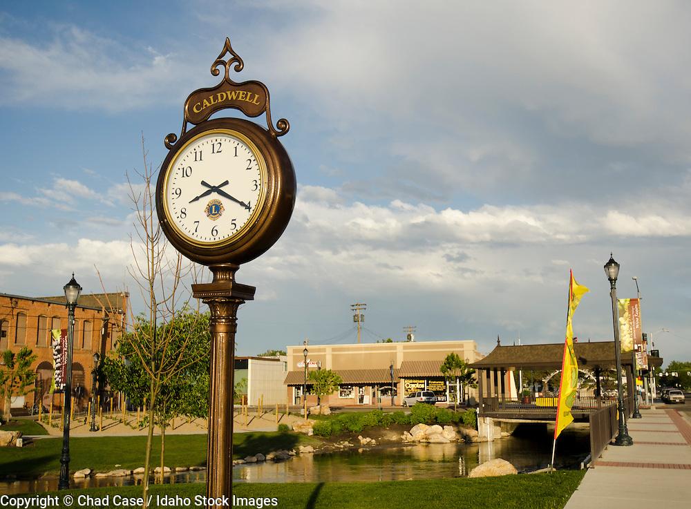 Caldwell, Idaho with clock