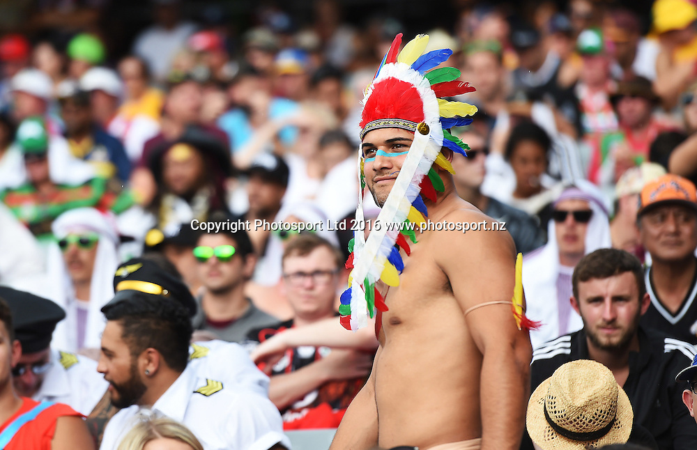 Fans and supporters in the crowd. NRL Auckland Nines  at Eden Park in Auckland, New Zealand. Saturday 6 February 2016. Copyright photo: Andrew Cornaga / www.photosport.nz