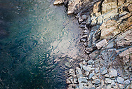 Abstracted landscape details from the canyon of the North Fork American River in Placer County, California