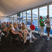 August 21, 2014, New Haven, CT:<br /> James Blake and Andy Roddick attend the Legends Party during the Men's Legends Event on day seven of the 2014 Connecticut Open at the Yale University Tennis Center in New Haven, Connecticut Thursday, August 21, 2014.<br /> (Photo by Billie Weiss/Connecticut Open)