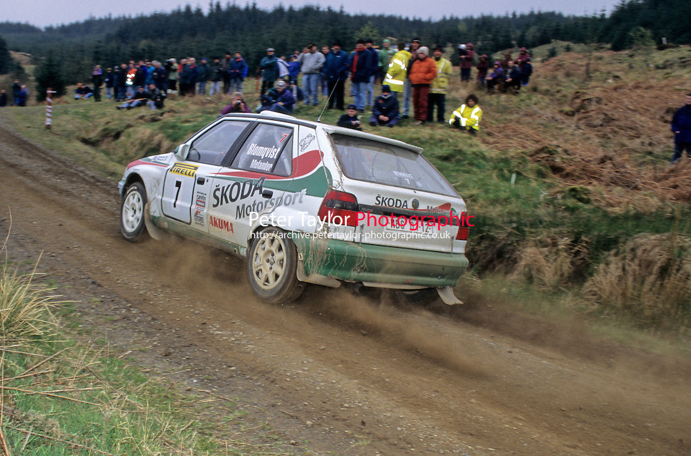 Mobil 1/RAC British Rally Championship 1997. Pirelli International Rally. Stig Blomqvist / Benny Melander. Skoda. Skoda Felicia Kit Car. World Copyright: Peter Taylor/PSP. Copy of publication required for printed pictures. Every used picture is fee-liable.