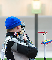 London, England, 21-04-12. Alexander SCHMIRL (AUT) in the ISSF World Cup 10m Air Rifle, Royal Artillery Barracks, London. Part of the London Prepares Olympic preparations.
