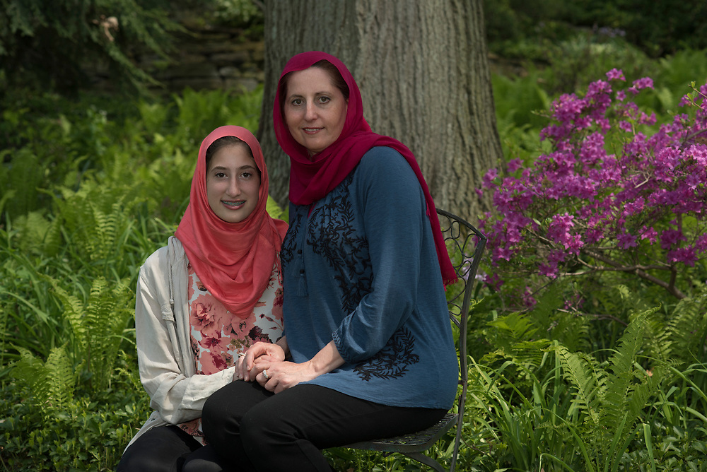 Lana Shami and her daughter Aya Obeid, age 16, at their Mt. Lebanon home.