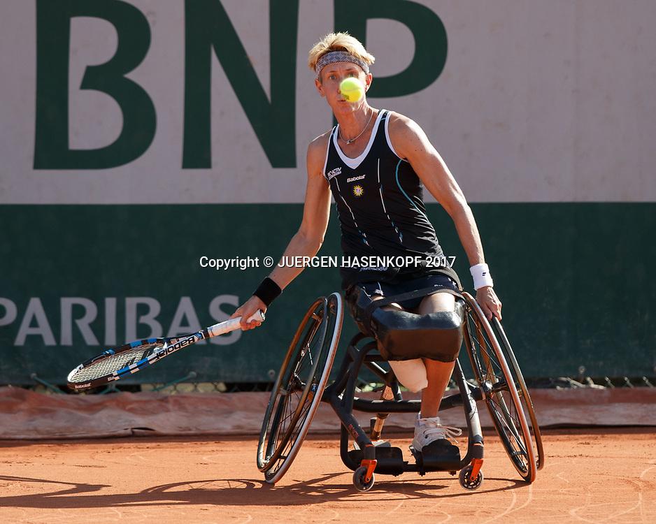 SABINE ELLERBROCK (GER), Wheelchair Tennis, Rollstuhl<br /> <br /> Tennis - French Open 2017 - Grand Slam / ATP / WTA / ITF -  Roland Garros - Paris -  - France  - 8 June 2017.