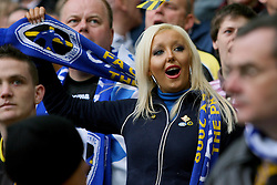 LONDON, ENGLAND - Saturday, May 17, 2008: Cardiff City fans before the game against Portsmouth during the FA Cup Final at Wembley Stadium. (Photo by Chris Ratcliffe/Propaganda)