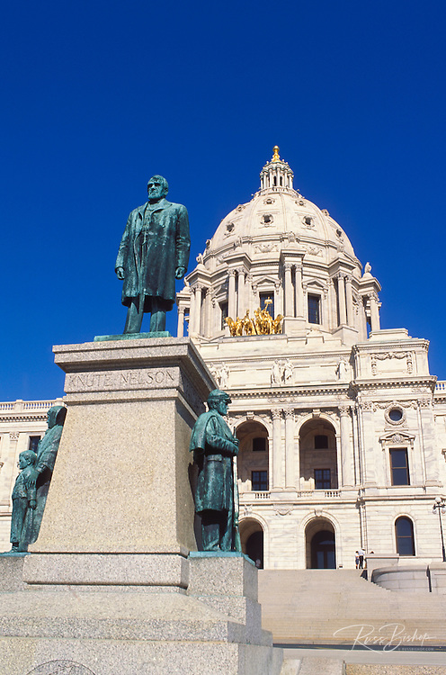 Statue of Knute Nelson  in front of the Minnesota state capitol, St. Paul, Minnesota.