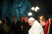 Pope Francis at the Via Crucis