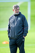 Craig Levein, manager of Heart of Midlothian at training, ahead of the visit of Livingston, at Oriam Sports Performance Centre, Riccarton, Edinburgh, Scotland on 20 September 2018.