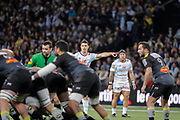 Daniel William Carter - Dan Carter (Racing 92), Anthony Tuitavake (Racing 92), Alexi Bales (Stade Rochelais) during the French Championship Top 14 Rugby Union match between Racing 92 and La Rochelle on february 18, 2018 at U Arena in Nanterre, France - Photo Stephane Allaman / ProSportsImages / DPPI