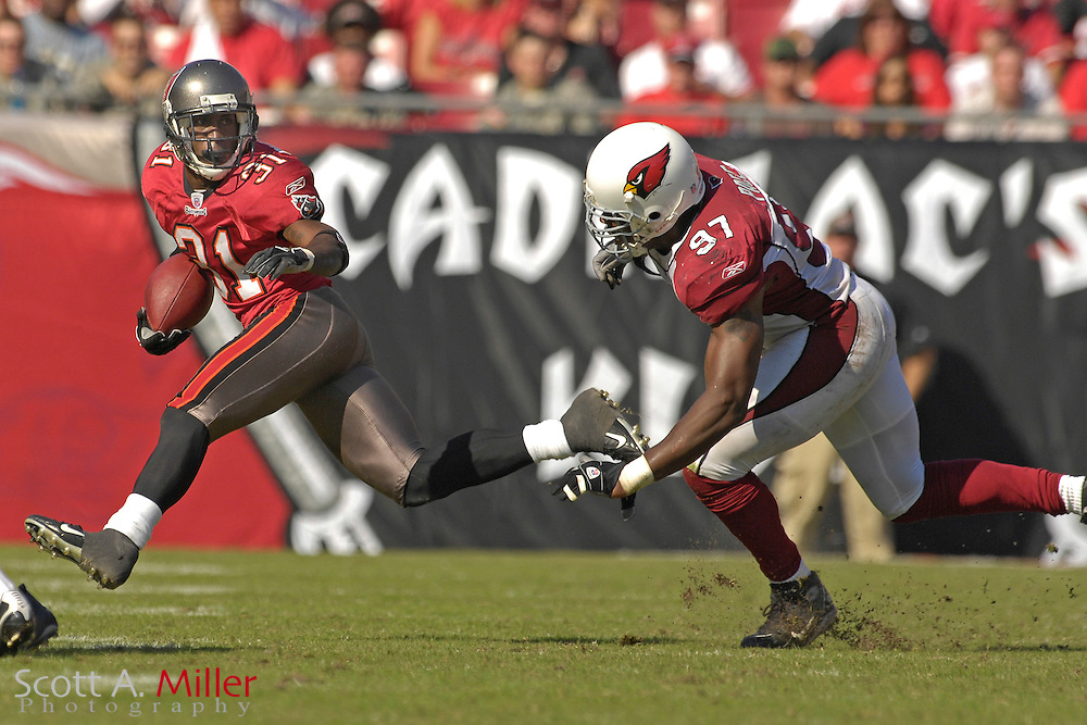 Nov. 4, 2007; Tampa, FL, USA;  Tampa Bay Buccaneers defender (31) Phillip Buchanon during the Bucs 17-10 win over the Arizona Cardinals at Raymond James Stadium. ...©2007 Scott A. Miller