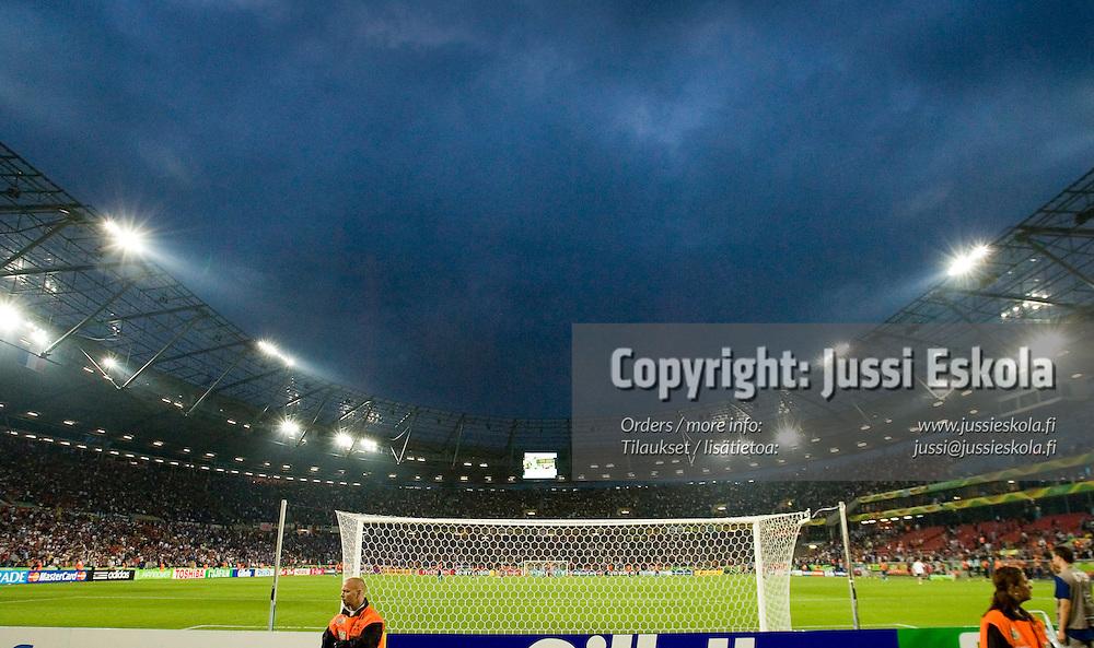 Hanover stadium, &#xA;France-Spain 27.6.2006.&#xA;World Cup.&#xA;Photo: Jussi Eskola<br />